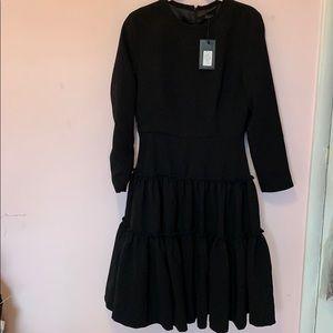 Black evening dress with layered skirt size medium